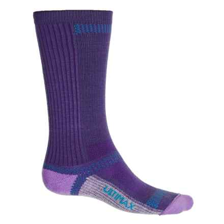 Wigwam Ultra CoolLite® Socks - Crew (For Men and Women) in Plum - 2nds