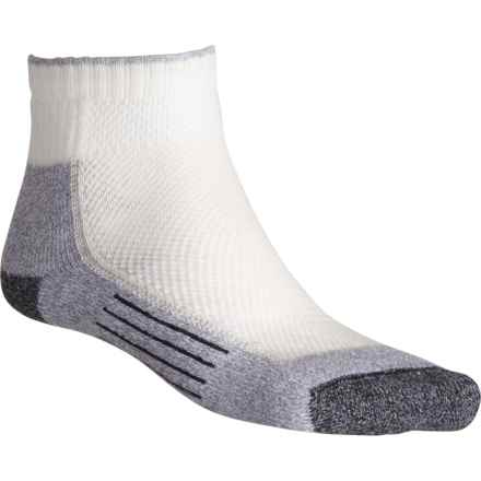 fc640d2a504e2 Wigwam White-Pewter Cool-Lite Pro Midweight Hiking Socks - Quarter Crew (For