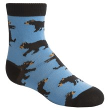 Wild & Cozy by Hatley Bears Socks - Crew (For Toddlers) in Blue - Closeouts