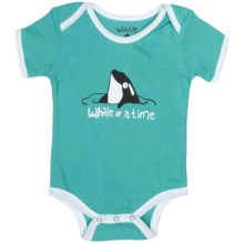 Wild & Cozy by Hatley Cotton Jersey Bodysuit - Short Sleeve (For Infants) in Orcas Whale Of A Time - Closeouts