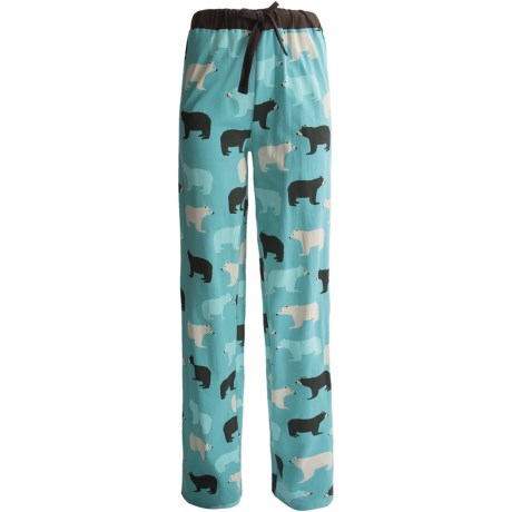 Wild & Cozy by Hatley Cotton Jersey Drawstring Pants (For Women) in Classic Polar Bear