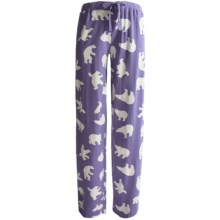 Wild & Cozy by Hatley Cotton Jersey Drawstring Pants (For Women) in Classic Polar Bear - Closeouts