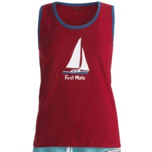 Wild & Cozy by Hatley Cotton Jersey Tank Top (For Women) in First Mate - Closeouts