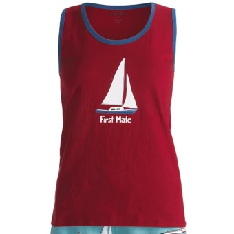 Wild & Cozy by Hatley Cotton Jersey Tank Top (For Women) in First Mate
