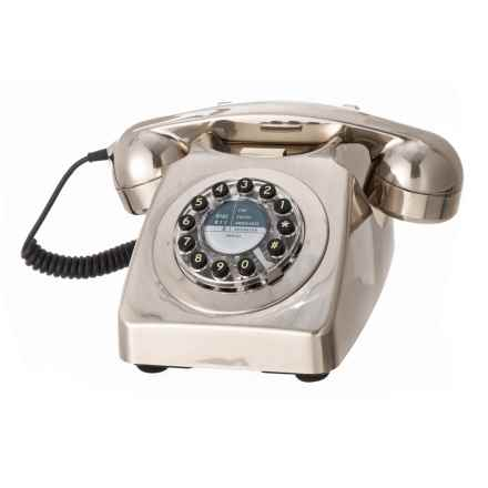 Wild & Wolf 746 Antique Telephone in Brushed Chrome - Closeouts