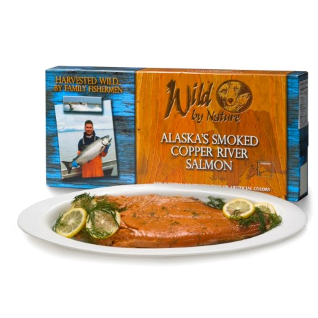 Wild by Nature Alaskan Salmon - 4 oz. Smoked Fillets in Asst
