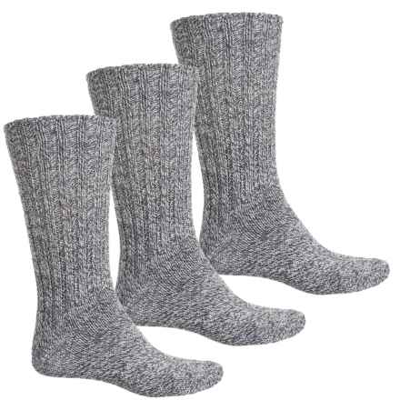 Wild Oak Marled Ragg Socks - 3-Pack, Crew (For Men and Women) in Grey - Closeouts