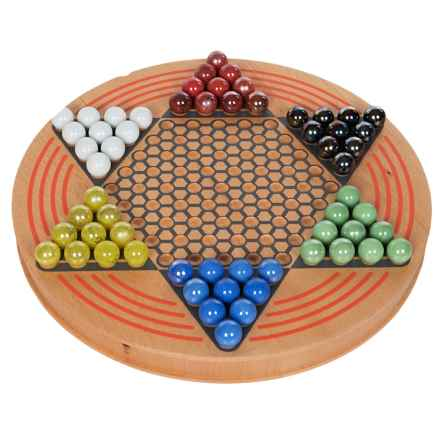 Wild Wood Chinese Checkers Set in See Photo - Closeouts