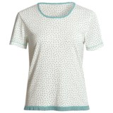 Wildbleu Heat Release Technology Shirt - Lace Hem, Short Sleeve (For Women)