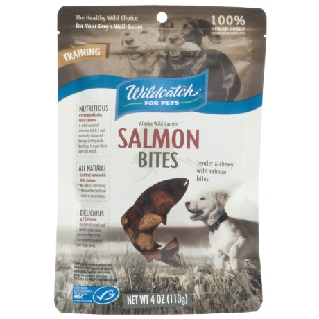 Wildcatch Wild Alaskan Salmon Bites Dog Treats - 4 oz. in See Photo