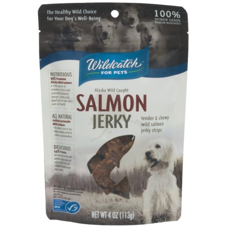 Wildcatch Wild Alaskan Salmon Jerky Dog Treats - 4 oz. in See Photo