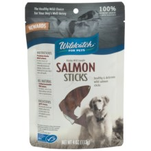 Wildcatch Wild Alaskan Salmon Sticks Dog Treats - 4 oz. in See Photo - Closeouts