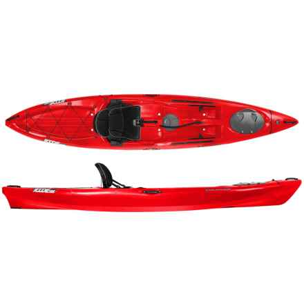 "Wilderness Systems Ride 135 Recreational Kayak - 13'6"", Lo Seat in Red - 2nds"