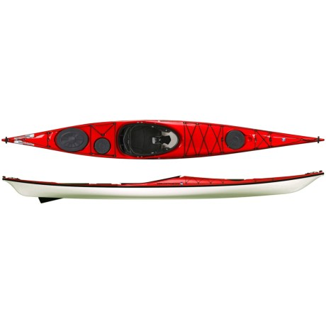 "Wilderness Systems Zephyr 155 Pro Expedition Kayak - Fiberglass, 15'6"" in Red/White/Black"