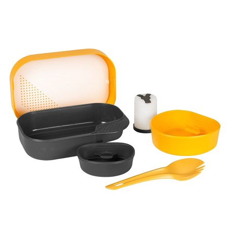 Wildo Camp-a-Box Complete Camping Kit - 7-Piece in Lemon