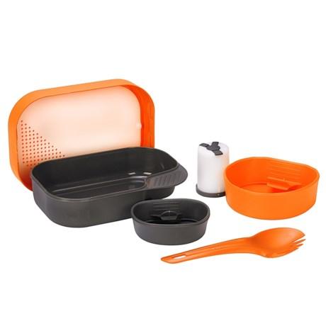 Wildo Camp-a-Box Complete Camping Kit - 7-Piece in Orange