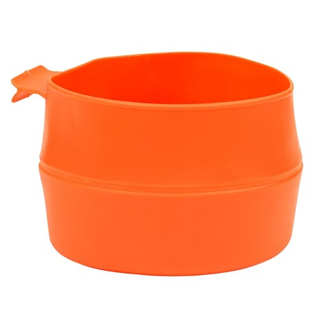 Wildo Fold-a-Cup Convertible Travel Cup - Large in Orange