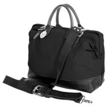 """Will Leather Goods 16"""" Utility Canvas Mason Bag in Black - Closeouts"""
