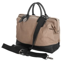 """Will Leather Goods 16"""" Utility Canvas Mason Bag in Khaki - Closeouts"""