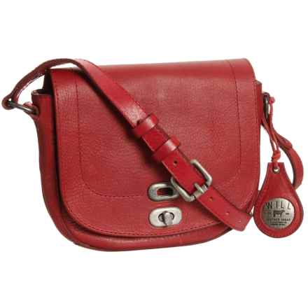 Will Leather Goods 1938 Crossbody Bag - Leather (For Women) in Red - Closeouts