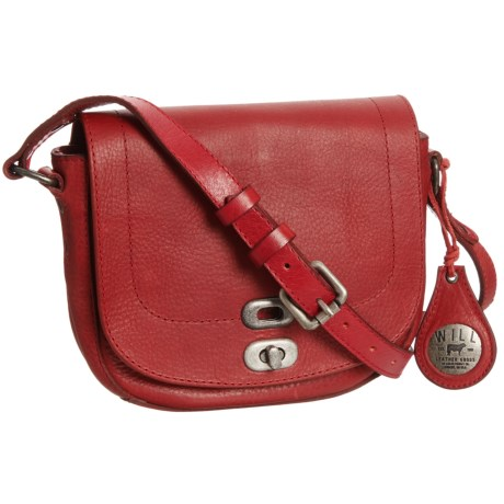 Will Leather Goods 1938 Crossbody Bag - Leather (For Women) in Red
