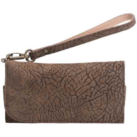 Will Leather Goods Ari Phone Wallet - Leather (For Women) in Brown - Closeouts