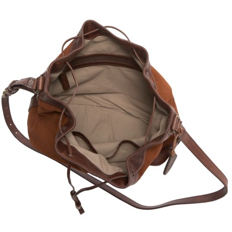 Will Leather Goods Astoria Drawstring Bucket Bag - Leather