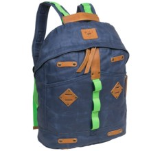 Will Leather Goods Backpack - Waxed Canvas, Large in Blue - Closeouts