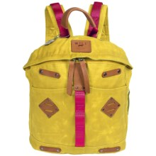 Will Leather Goods Backpack - Waxed Canvas, Large in Yellow - Closeouts