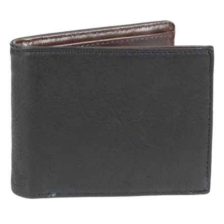 Will Leather Goods Billfold Wallet (For Men) in Black - Closeouts
