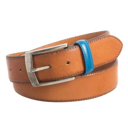 Will Leather Goods Booker Belt - Leather (For Men) in Tan - Closeouts