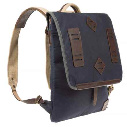 Will Leather Goods Burnt Lake Canvas Canoe Pack in Navy - Closeouts