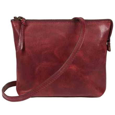 Will Leather Goods Convertible Pouch Purse - Leather in Cherry - Closeouts