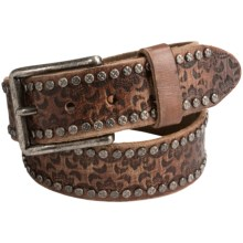 Will Leather Goods Cosmic Wild Ones Belt - Leather (For Women) in Rosewood - Closeouts