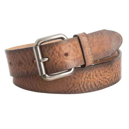 Will Leather Goods Distressed Belt - Leather (For Men) in Cognac - Closeouts