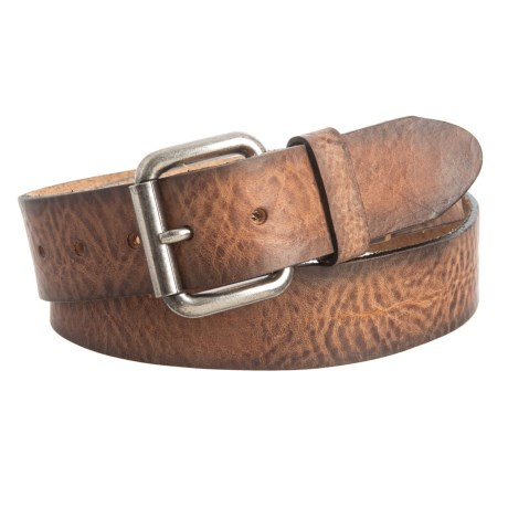 Will Leather Goods Distressed Belt - Leather (For Men) in Cognac