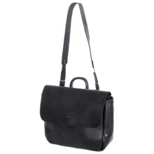 Will Leather Goods Douglas Postal Bag in Black - Closeouts