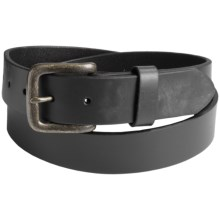 Will Leather Goods Flat Strap Belt (For Men) in Black - Closeouts