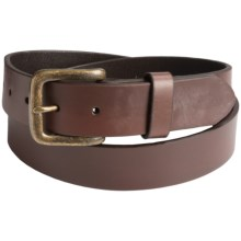Will Leather Goods Flat Strap Belt (For Men) in Brown - Closeouts