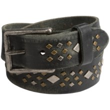 Will Leather Goods Guthrie Wild Ones Belt - Leather (For Women) in Ebony - Closeouts
