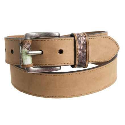 Will Leather Goods Jonny Belt - Leather (For Men) in Brown - Closeouts