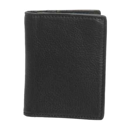 Will Leather Goods Leather Card Fold Wallet (For Men) in Black - Closeouts