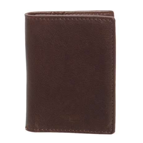 Will Leather Goods Leather Card Fold Wallet (For Men) in Brown