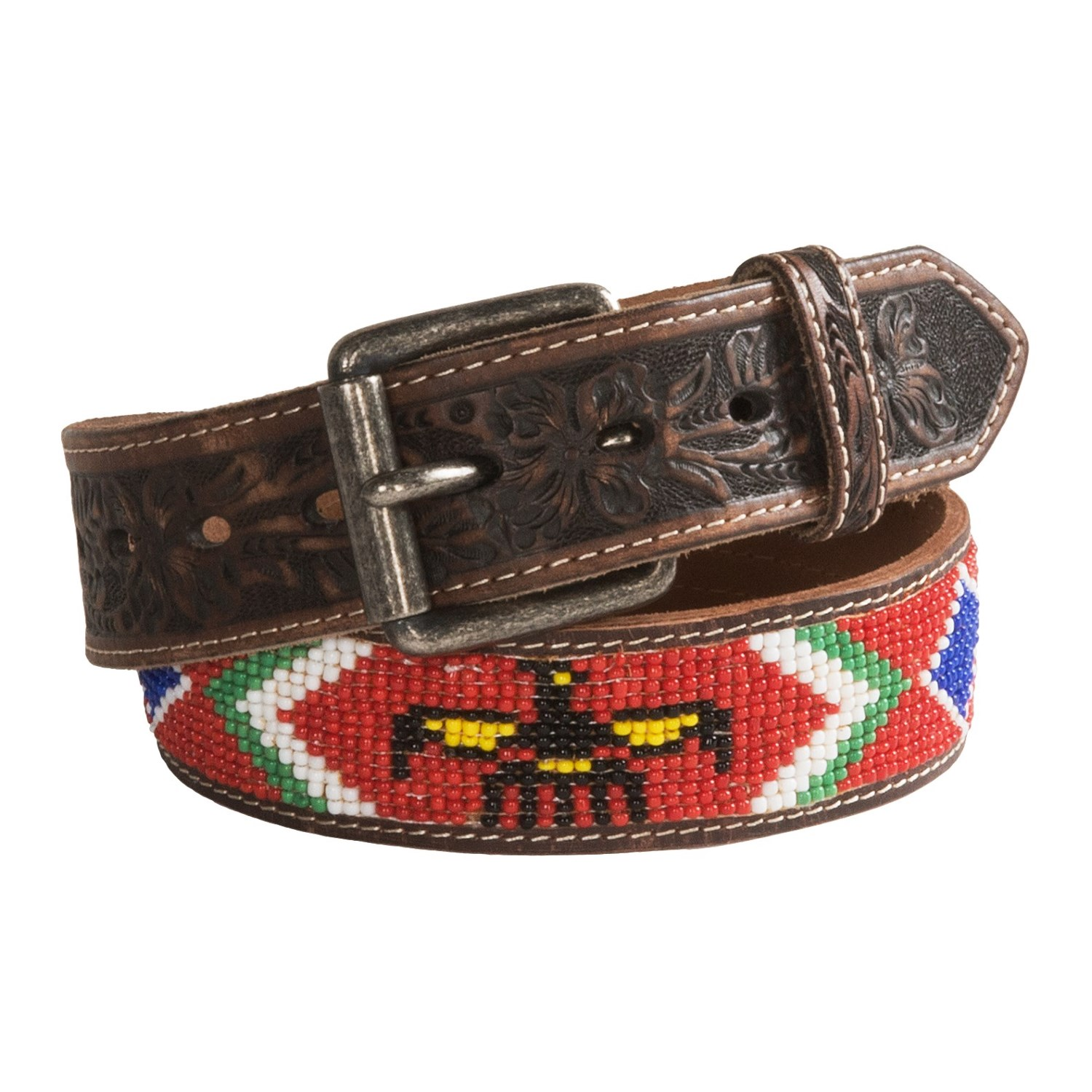 beaded leather belts for images