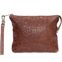 Will Leather Goods Opal Zip Pouch - Leather (For Women) in Cognac - Closeouts