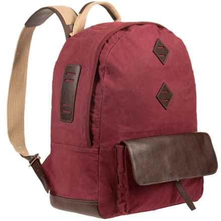 Will Leather Goods Owl Point Dome Backpack in Crimson - Closeouts