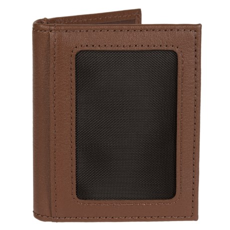 Will Leather Goods Pebbled Card Fold Wallet (For Men) in Tan