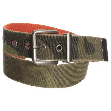 Will Leather Goods Reversible Camo Belt (For Men) in Camo - Closeouts