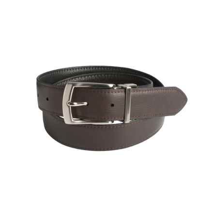 Will Leather Goods Reversible Italian Leather Belt (For Men) in Black/Brown - Closeouts