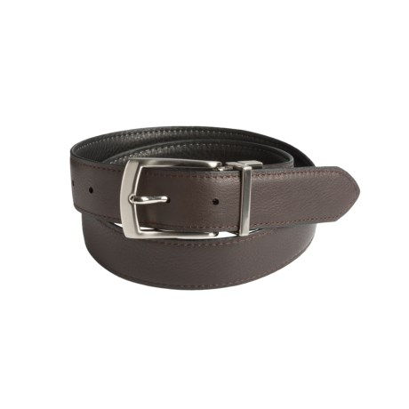 Will Leather Goods Reversible Italian Leather Belt (For Men) in Black/Brown